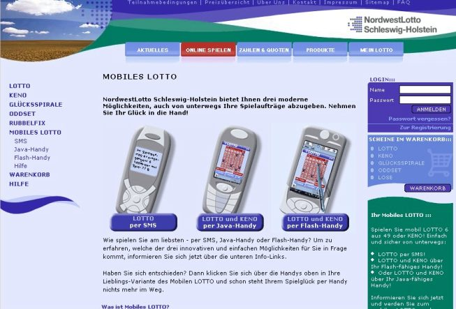 Erstes mobiles Lotto-Angebot 2004
